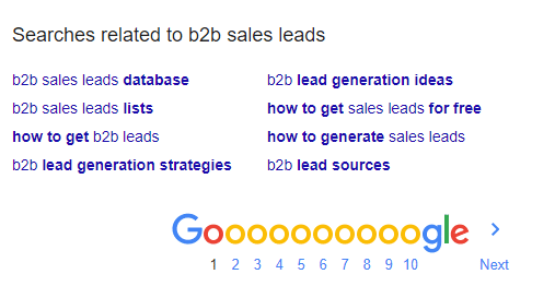 Searches Related To B2B Sales Leads